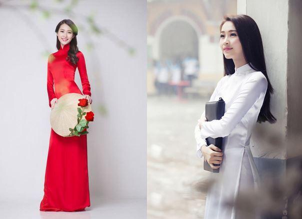 Vẻ đẹp của phụ nữ và nữ sinh trong bộ áo dài truyền thống
