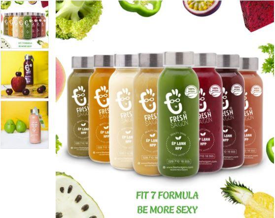 Beauty Drink - Fit 7 Formula - một sản phẩm detox hoàn toàn từ trái cây tự nhiên