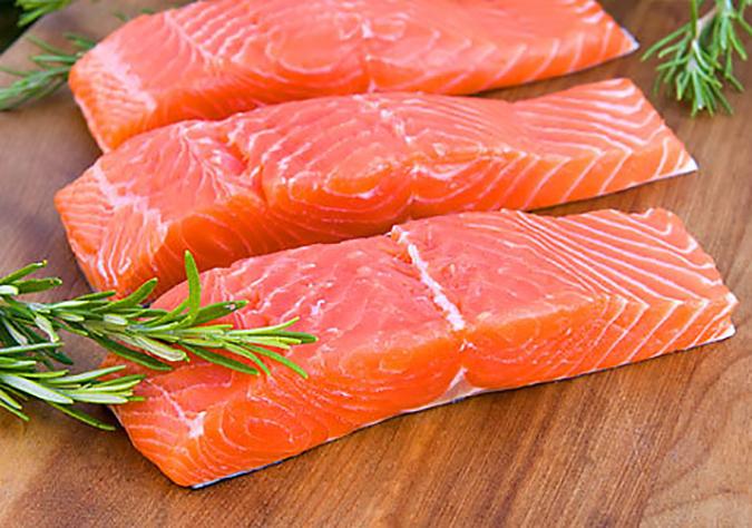 Thịt cá hồi - thực phẩm sạch an toàn